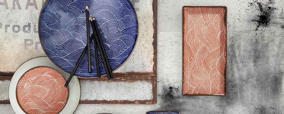 vajillas orientales vajilla japonesa decoración de la mesa en estilo oriental