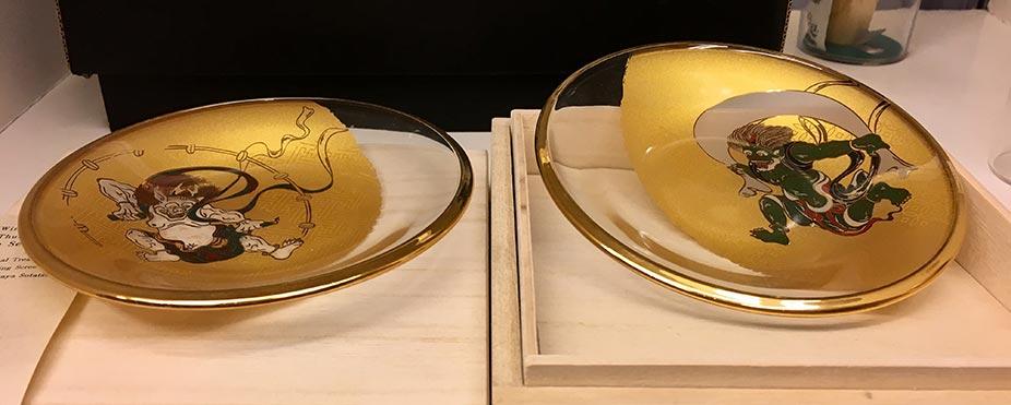 vajilla de cristal ukiyo vajilla decorativa